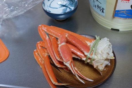 天たつのズボガニ大サイズは爪も大きく蟹好きの方にもお勧めです