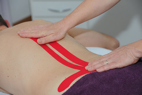 Kinesio Taping, Rückenschmerzen