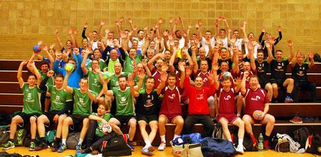 Spaß ohne Ende hatten die 57 aktiven Handballerinnen und Handballer sowie die drei Schiedsrichter auch bei der achten Auflage des All-Star Turniers.
