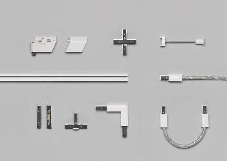 Alle SMART.TRACK Komponenten in weiß von OLIGO