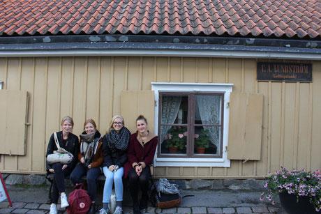 Ausflug nach Sigtuna: Elisabeth Schwake, Pia Wittek, Magdalena Kollbeck und Miriam Schmelz