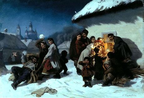 Koljadka in der Ukraine. Quelle Wikipedia gemeinfrei (Bild verlinkt) Künstler: K. Trutovsky. 1864