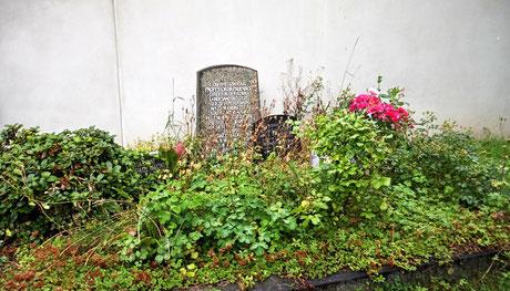 Grabmal Näcke. Keiner mehr da zum Pflegen des Grabes, aber ein erhaltenswertes Grab dank des darin Bestatteten...