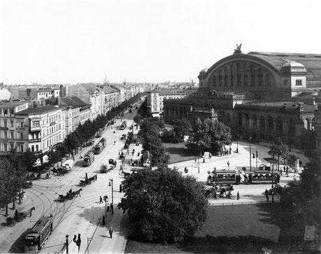 Anhalter Bahnhof anno 1910. Quelle wikimedia commons (Bild verlinkt)
