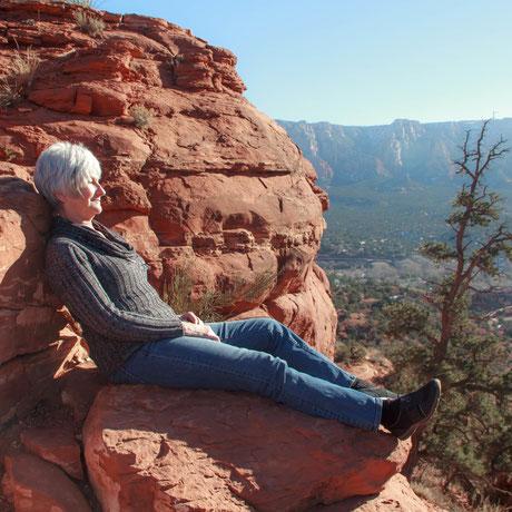 Kathy D Carter meditating in Sedona, AZ