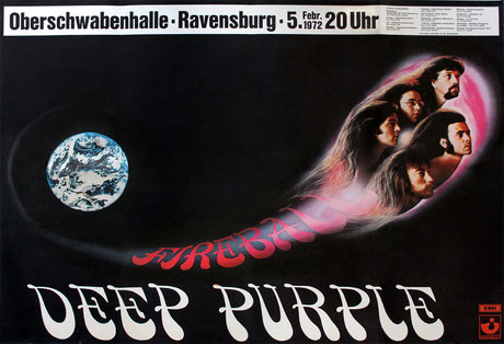 """""""Träume aus dem Untergrund"""" ist mit 120 Fotos reich bebildert. Darunter sind rare und teilweise unveröffentlichte Fotos aus den Privatsammlungen der Protagonisten des Buches. Hier ein Konzertplakat von Deep Purple. Foto: Sammlung Christoph Wagner"""