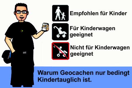 Titelbild: Warum Geocachen nur bedingt Kinder tauglich ist.