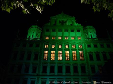 Stadtillumination - Illumination - Rathaus - Goldener Saal Stadt Augsburg © 2005 - Foto: Wolfgang F. Lightmaster / Illumination: Wolfgang F. Lightmaster
