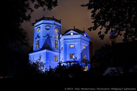 Stadtillumination - Illumination - Wassertürme Stadt Augsburg © 2013 - Foto: Norbert Liesz / Illumination: Wolfgang F. Lightmaster