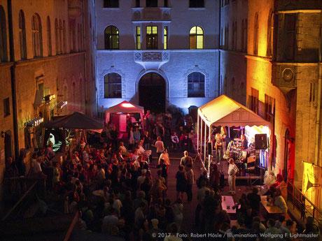 Stadtillumination - Illumination - Bürgerhof Stadt Augsburg © 2017 - Foto: Robert Hösle / Illumination: Wolfgang F. Lightmaster