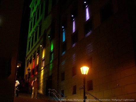 Stadtillumination - Illumination - Rathaus - Eisenberg Stadt Augsburg © 2005 - Foto: Wolfgang F. Lightmaster / Illumination: Wolfgang F. Lightmaster