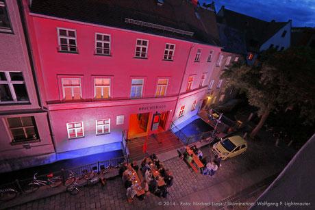 Stadtillumination - Illumination - Brechthaus Stadt Augsburg © 2014 - Foto: Norbert Liesz / Illumination: Wolfgang F. Lightmaster