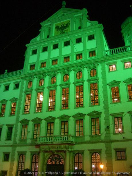 Stadtillumination - Illumination - Rathaus - Goldener Saal Stadt Augsburg © 2008 - Foto: Wolfgang F. Lightmaster / Illumination: Wolfgang F. Lightmaster