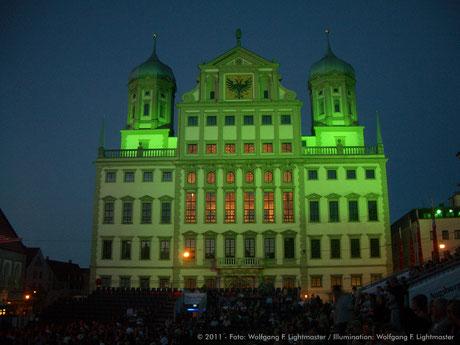 Stadtillumination - Illumination - Rathaus Stadt Augsburg © 2011 - Foto: Wolfgang F. Lightmaster / Illumination: Wolfgang F. Lightmaster
