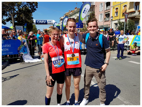 Familie Keller in Izola/Slowenien beim Istrski Marathon am 8.April2018
