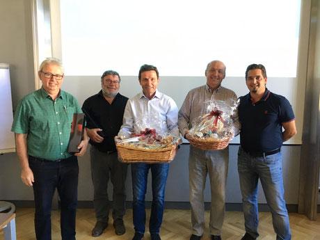 v.l.n.r.: Alois Korntner, Franz Schmitzberger, Edi Stangl, Leo Pickner, Christian Sterrer
