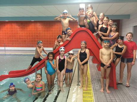 Die aktuelle Gruppe nach erfolgreicher Trainingseinheit im Aquawede