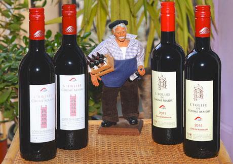 Quatre beaux millésimes d'un vin souple et soyeux