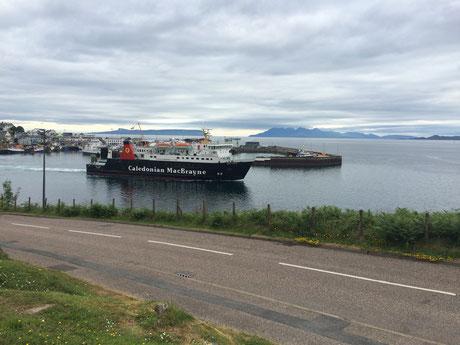 Der kleine Ort Mallaig am Ende der West-Highland Route dient ebenfalls als Fährhafen