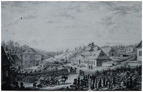 historische Ansicht des Eisenwerkes