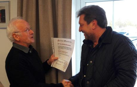 Dr. Wolfgang Dalk hier mit Eduardo Catalán