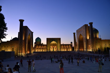 Der atemberaubende Registan in Samarkand