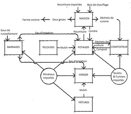 "Extrait traduit de ""Melliodora : a case study in cool climate permaculture"" de David HOLMGREN"