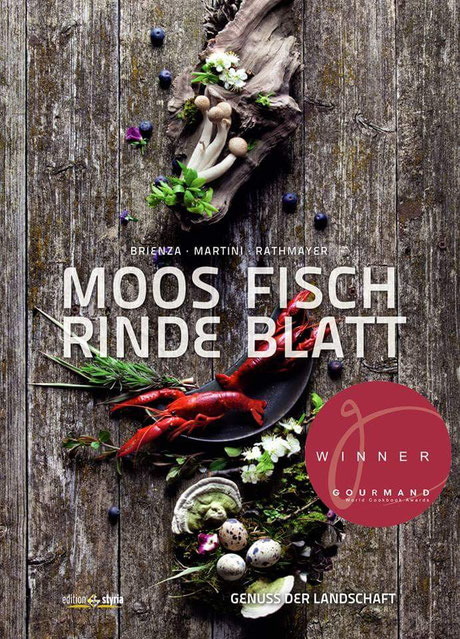 Titelbild: Moos Fisch Rinde Blatt - GOURMAND WORLD COOKBOOK AWARDS - PRIX PRATO