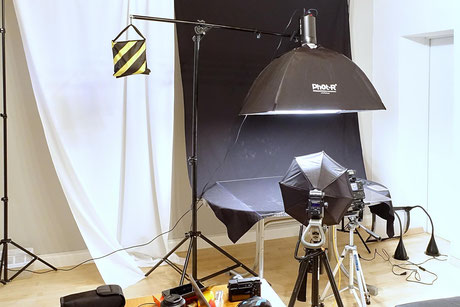 Godox SK400, Studioblitz, flash, Test, Review, Meinung, Bowens, Galgenstativ, Set up