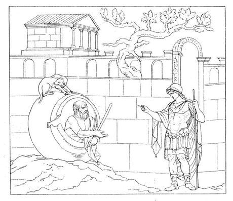 """. . . . Diogenes und Alexander """"der Große!"""""""