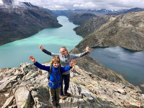 Besseggen Grat mit Kinder, Norwegen mit Kinder
