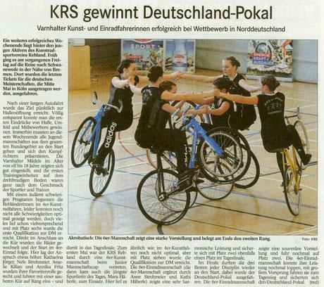 KRS gewinnt deutschland-Pokal