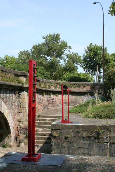Sculptures abstraites Vanorbeek, Canal du Midi, Toulouse