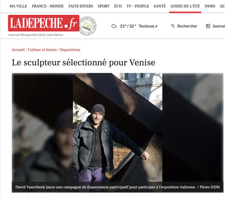 Biennale de Venice Sculpture David Vanorbeek Sculpteur