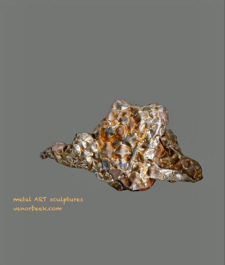 abstract metal art sculpture, sculpture abstraite en métal, David Vanorbeek sculpteur