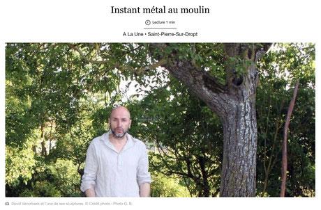 David Vanorbeek, sculpteur metal art en France