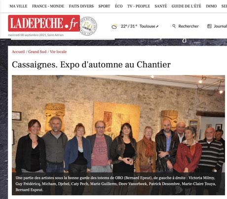 espace exposition Cassaignes Vanorbeek artistes art