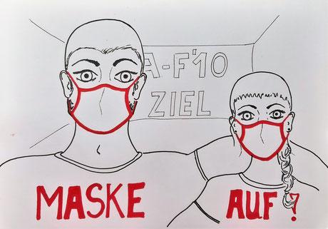 Zeichnung Maske