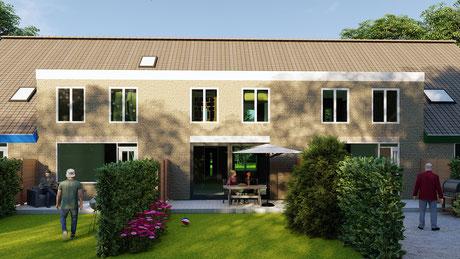 3D Tekenwerk dakopbouw Almere voor omgevingsvergunning