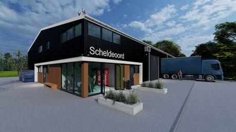 3D ontwerp nieuwbouw loods Baarland