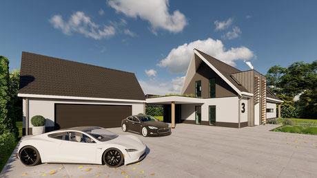3D ontwerp luxe moderne villa