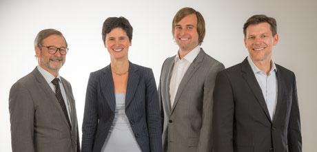 Rechtsanwälte H. Stenz, C. Rogoz, M. Gerstner und A. Tiedtke