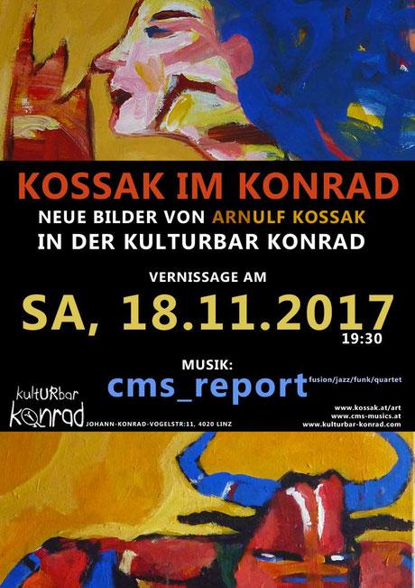 Arnulf Kossak, Vernissage 2017, Kulturbar Konrad