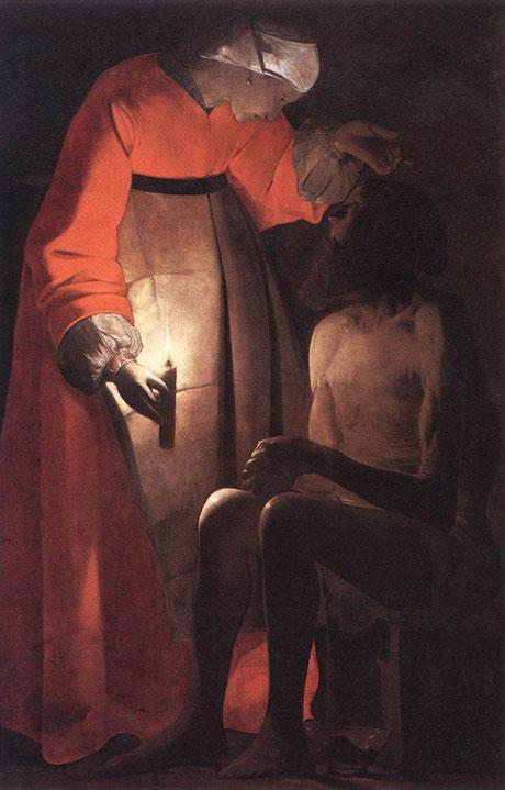 Job ridiculisé par sa femme de Georges de la Tour