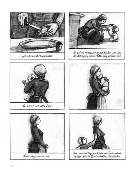 Comiczeichnung, wo Gesche Gottfried ihre Kinder vergiftet