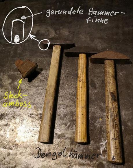 Erklärung eines Dengelhammers für eine Sense zu dengeln
