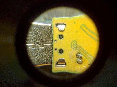 20 Carencia de soldadura en las patillas del conector USB. Las soldaremos