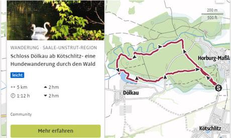 Hundewanderung, Schloss Dölkau, Kötschlitz, Horburg-Maßlau