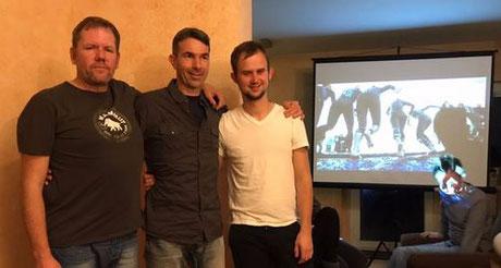v.l. Kassenprüfer Christian, Ralf und Sebastian