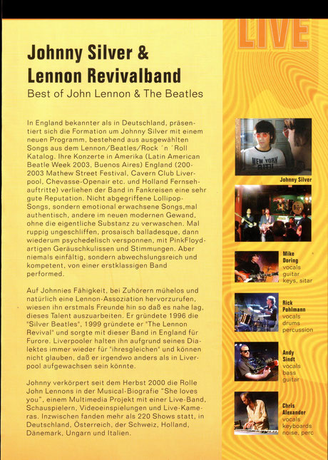 Johnny Silver - Lennon Revivalband